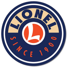 """LIONEL 12"""" DIAMETER TIN SIGN WITH HOLES FOR EASY MOUNTING"""