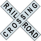 """OLD FASHION RAILROAD """"X"""" SHAPED METAL CROSSING SIGN (ONE PIECE) MEASURES 24"""" X 24"""""""