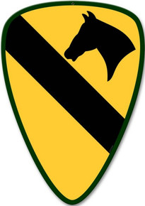 1ST CAVALRY DIVISION (Sublimation Process) finish on heavy metal sign
