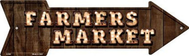 """METAL shaped ARROW Shaped Sign 17"""" X 5"""" WITH HOLES FOR EASY MOUNTING"""
