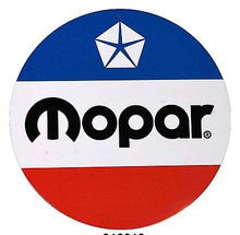 "CLASSIC RED, WHITE & BLUE 12"" ROUND MOPAR SIGN"