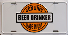 """THIS METAL LICENSE PLATE MEASURES 12"""" X 6"""" WITH SLOTS FOR EASY MOUNTING"""