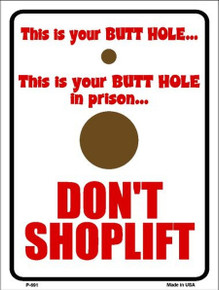 """THIS SMALL 9"""" X 12"""" METAL SIGN HAS HOLES IN EACH CORNER FOR EASY MOUNTING."""