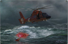 COAST GUARD RESCUE AT SEA (Sublimation Process) Heavy Metal Sign