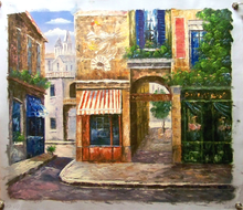 Photo of ANTIQUE SHOP IN OLD TOWN SMALL, OIL PAINTING