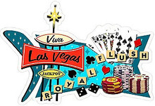 """VIVA LAS VEGAS SHAPED RETRO TIN SIGN MEASURES 18.39""""  X  13.55""""  WITH HOLES FOR EASY MOUNTING"""