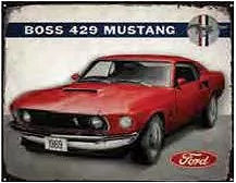 """69 MUSTANG MACH I RUSTIC SIGN MEASIRES 15"""" X 12"""" WITH HOLES FOR EASY MOUNTING"""