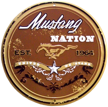 FORD MUSTANG NATION ROUND SIGN
