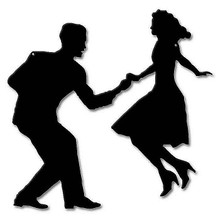 """SWING DANCERS LARGE SILHOUETTE (Sublimation Process) Heavy Metal Sign  MEASURES 17"""" X 17""""                S/O* SPECIAL ORDER SIGNS NORMALLY TAKES 2-3 WEEKS TO SHIP. HAS HOLES FOR EASY MOUNTING THE FIXED SHIPPING PRICE ONLY APPLIES TO THE 48 CONTIGUOS STATES, FOR ALL OTHER COUNTRIES PLUS ALASKA AND HAWAII, SHIPPING WILL BE MORE. PLEASE SEND EMAIL WITH YOUR COMPLETE ADDRESS TO GET AN ACCURATE SHIPPING QUOTE"""