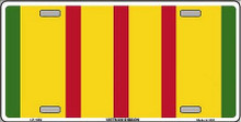 VIETNAM RIBBON LICENSE PLATE WITH SLOTS FOR EASY MOUNTING ON CAR, TRUCK OR WALL.