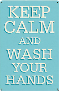 KEEP CALM AND WASH YOUR HANDS (Sublimation Process) Finish on Heavy Metal Sign S/O*    S/O* SPECIAL ORDER SIGNS NORMALLY TAKES 2-3 WEEKS TO SHIP. HAS HOLES FOR EASY MOUNTING THE FIXED SHIPPING PRICE ONLY APPLIES TO THE 48 CONTIGUOS STATES, FOR ALL OTHER COUNTRIES PLUS ALASKA AND HAWAII, SHIPPING WILL BE MORE. PLEASE SEND EMAIL WITH YOUR COMPLETE ADDRESS TO GET AN ACCURATE SHIPPING QUOTE