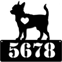 """CHIHUAHUA LOVER ADDRESS PERSONALIZED SIGN 15"""" X 15"""" (Sublimation Process) Finish on Heavy Metal Sign S/O*    S/O* SPECIAL ORDER SIGNS NORMALLY TAKES 2-3 WEEKS TO SHIP. HAS HOLES FOR EASY MOUNTING THE FIXED SHIPPING PRICE ONLY APPLIES TO THE 48 CONTIGUOS STATES, FOR ALL OTHER COUNTRIES PLUS ALASKA AND HAWAII, SHIPPING WILL BE MORE. PLEASE SEND EMAIL WITH YOUR COMPLETE ADDRESS TO GET AN ACCURATE SHIPPING QUOTE"""
