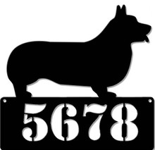 """CORGI PEMBROKE 15"""" X 14"""" ADDRESS PERSONALIZED SIGN (Sublimation Process) Finish on Heavy Metal Sign S/O*   S/O* SPECIAL ORDER SIGNS NORMALLY TAKES 2-3 WEEKS TO SHIP. HAS HOLES FOR EASY MOUNTING THE FIXED SHIPPING PRICE ONLY APPLIES TO THE 48 CONTIGUOS STATES, FOR ALL OTHER COUNTRIES PLUS ALASKA AND HAWAII, SHIPPING WILL BE MORE. PLEASE SEND EMAIL WITH YOUR COMPLETE ADDRESS TO GET AN ACCURATE SHIPPING QUOTE"""