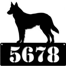 """GERMAN SHEPHERD ADDRESS PERSONALIZED SIGN 15"""" X 15"""" (Sublimation Process) Finish on Heavy Metal Sign S/O*   S/O* SPECIAL ORDER SIGNS NORMALLY TAKES 2-3 WEEKS TO SHIP. HAS HOLES FOR EASY MOUNTING THE FIXED SHIPPING PRICE ONLY APPLIES TO THE 48 CONTIGUOS STATES, FOR ALL OTHER COUNTRIES PLUS ALASKA AND HAWAII, SHIPPING WILL BE MORE. PLEASE SEND EMAIL WITH YOUR COMPLETE ADDRESS TO GET AN ACCURATE SHIPPING QUOTE"""