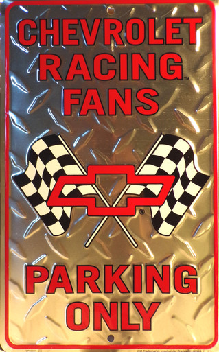 """EMBOSSED METAL SIGN MEASURES 8"""" X 12"""" WITH HOLES FOR EASY MOUNTING"""