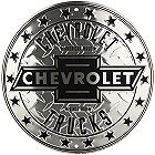 """THIS CHEVY TRUCK EMBOSSED ALUMINUM  SIGN MEASURES 23 1/2"""" DIAMETER, WITH HOLE(S) FOR EASY MOUNTING,"""
