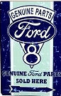 """FORD PARTS METAL 12"""" X 18"""" METAL SIGN WITH HOLES IN EACH CORNER FOR EASY MOUNTING"""