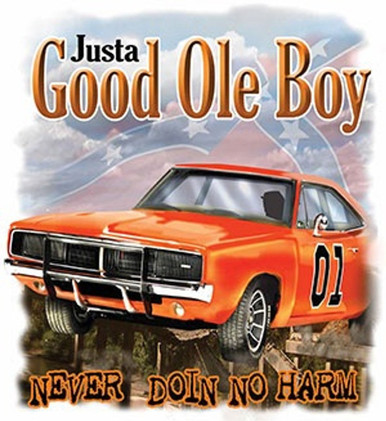 """DUKES OF HAZZARD """"JUSTA GOOD OLE BOY"""" METAL SIGN MEASURES 11"""" X 17"""" WITH HOLES FOR EASY MOUNTING"""