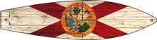"METAL HORIZONTAL FLORIDA STATE FLAG BOARD SHAPED 17"" X 4.5"" SIGN S/O*"