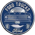 """23 1/2"""" ROUND METAL FORD TRUCK SIGN EMBOSSED WITH HOLES FOR EASY MOUNTING"""