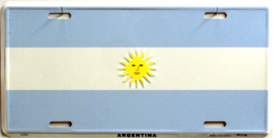 Photo of ARGENTINA FLAG LICENSE PLATE FOR THE CAR, TRUCK OR WALL