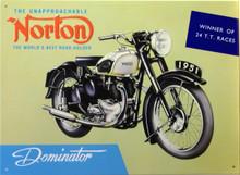 NORTON  DOMINATOR SIGN