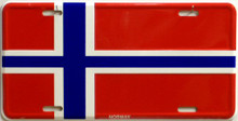 NORWAY FLAG LICENSE PLATE SIGN