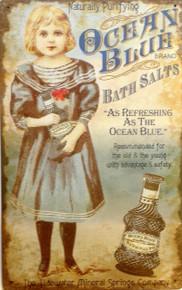 OCEAN BLUE BATH SALTS SIGN