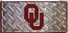 OKLAHOMA SOONERS COLLEGE LICENSE PLATE