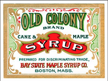 OLD COLONY SYRYUP ENAMEL SIGN