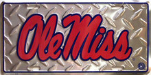 OLE MISS REBELS COLLEGE LICENSE PLATE