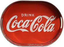 OVAL COKA-COLA COKE METAL TRAY