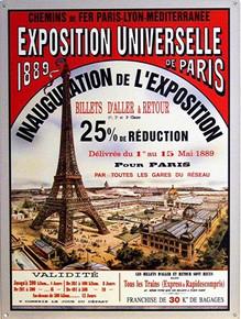 PARIS 1889 EXPO,  FRANCE ENAMEL SIGN