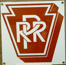 PENN RR PORCELAIN TRAIN SIGN