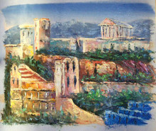 Photo of ATHENS SCENE 2 SMALL SIZED OIL PAINTING