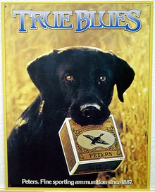 PETERS TRUE BLUE LAB SIGN
