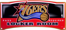 PHILADELPHIA 76ERS BASKETBALL LOCKER ROOM SIGN