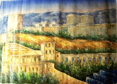 Photo of ATHENS SCENE 3 LARGE SIZE OIL PAINTING