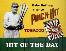 PINCH HIT TOBACCO BASEBALL SIGN
