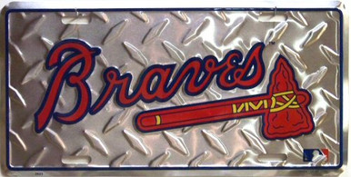 Photo of ATLANTA BRAVES DIAMOND PLATE, LICENSE PLATE