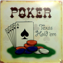 POKER HOLDEM SIGN