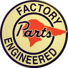 PONTIAC FACTORY PARTS SIGN