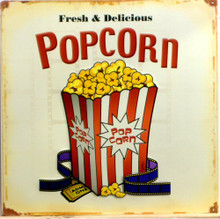POP CORN W/MOVIE FILM SIGN