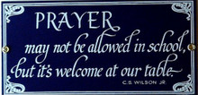 PRAYER PORCELAIN SIGN