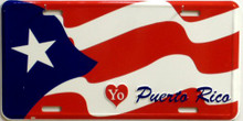 PUERTO RICO LOVE LICENSE PLATE