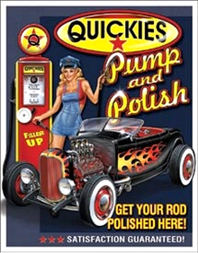 QUICKIE PUMP & POLISH SIGN