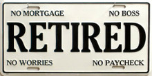RETIRED LICENSE PLATE
