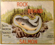 ROCK BOTTOM SALMON RUSTY SIGN