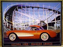 ROLLER COASTER W/CORVETTE SIGN