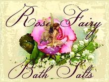 ROSE FAIRY BATH SALTS ENAMEL SIGN